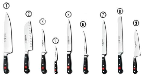 types of knives kitchen knives 101 the pioneer