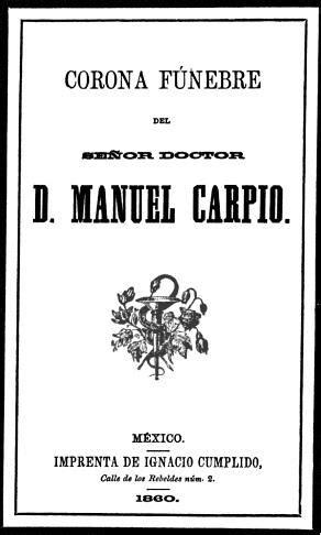 Manuel Carpio - Poemas de Manuel Carpio
