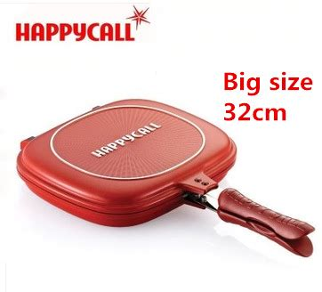 Happy Coll 32cm wholesale happycall happy call size 32cm fry pan non stick fryer pan side grill