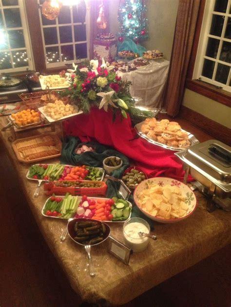 holiday heavy hors d oeuvres display at a private