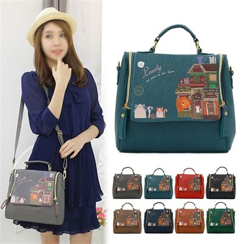 Korean Fashion Picnic Bag Termurah 1 fashion korean style purses shoulder bags handbag print bags ebay