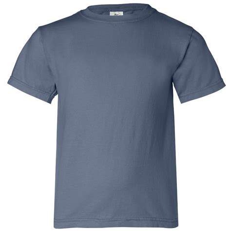 blue jean comfort colors comfort colors 9018 youth garment dyed ringspun t shirt