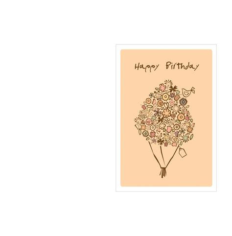 card template 9 page birthday card template happy birthday bouquet free