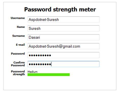 password regex pattern javascript best jquery password strength plugin exles to show