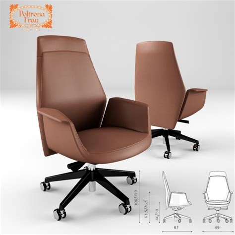 Cab Chair 3d Models Office Furniture Poltrona Frau Downtown Executive