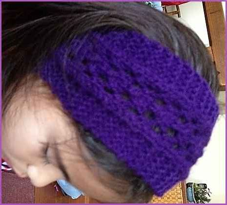 knitted headband patterns for beginners easy lacy headband beginner lace knitting pattern