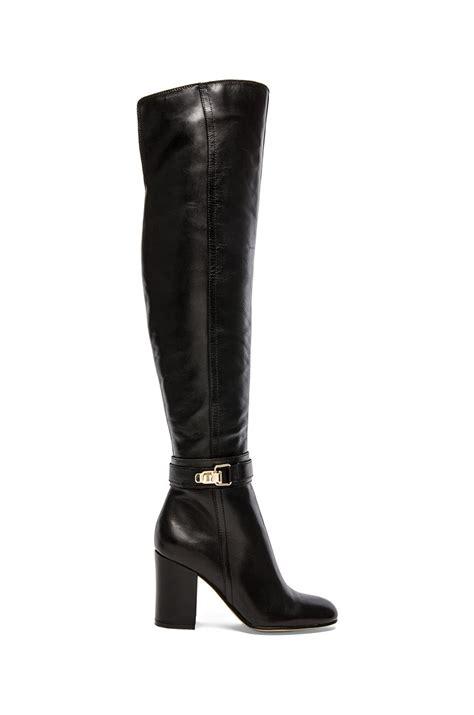 sam edelman fae boot in black black leather lyst