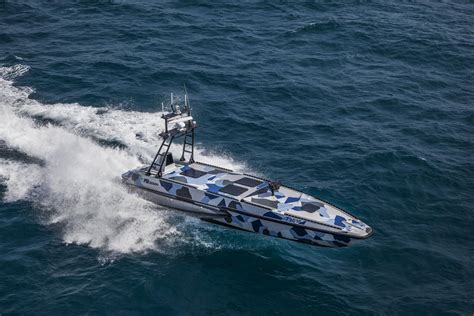 israel aircraft industries  unveil unmanned fast patrol boat   delhi defense expo