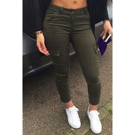 Sumber Grosir Bomber Croope Armi Fit To L T0210 army green s casual style mid waisted army green pocket