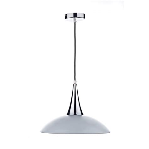 modern white and chrome ceiling pendant