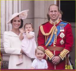 Princess charlotte prince george join will kate for trooping the color