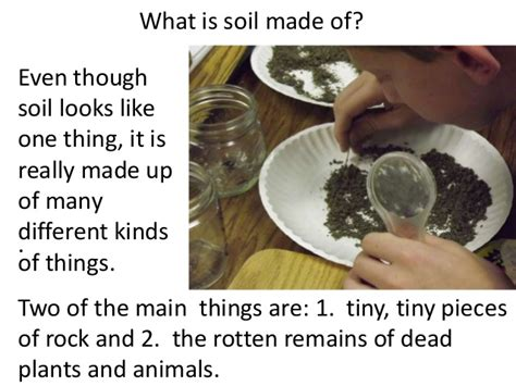 what is a made of soil for 3rd or 4th graders teach