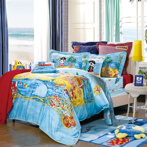 Pirate Bed Sets 4 Bedding Set Pirate S Treasure Duvet Cover Bed Sheet Pillowcases Blue Color
