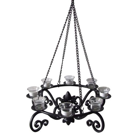 Gazebo Chandelier Shop Allen Roth 19 In X 19 In Black Metal Votive Candle Outdoor Decorative Lantern At Lowes