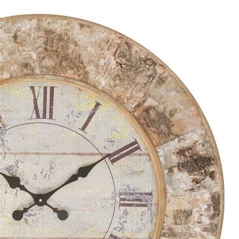 buy talwood bark large wooden wall clock purely wall clocks
