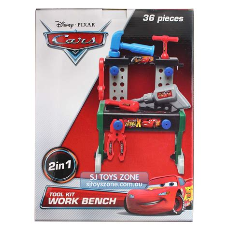 disney cars tool bench disney cars lightning mcqueen 36 pcs 2 in 1 tool kit work