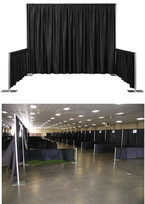 trade show drapes and pipes diy pipe and drape is sometimes unnecessary