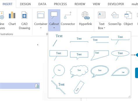 visio bracket shape annotations in visio 2013