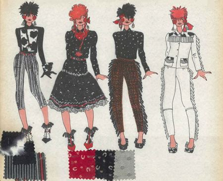 80s Sketches by The Look Adventures In Rock And Pop Fashion 187 Books