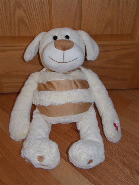 at play mushabelly chatter plush microbead puppy
