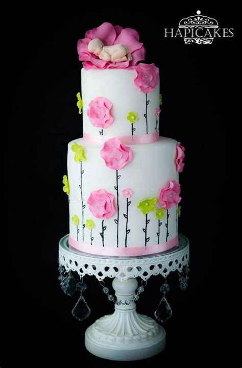 flower baby shower cake inspiration gallery - Flower Baby Shower Cakes