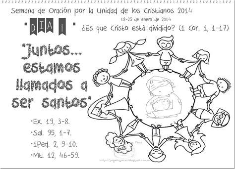 imagenes biblicas de unidad peques y pecas ficha d 237 a 1 semana de oraci 243 n por la