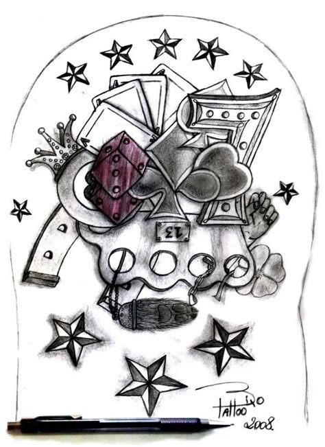gambler tattoo designs tattoos wonderful designs