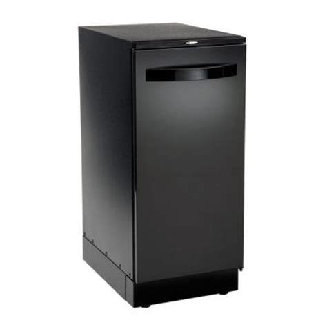trash compactors for home broan elite trash compactor in black 15bl the home depot