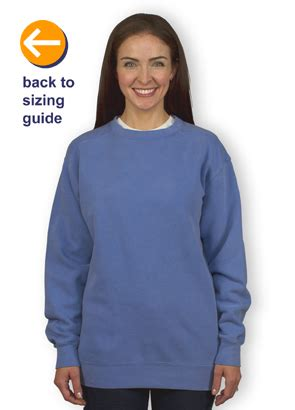 comfort colors sweatshirt sizing customink sizing line up for comfort colors crewneck