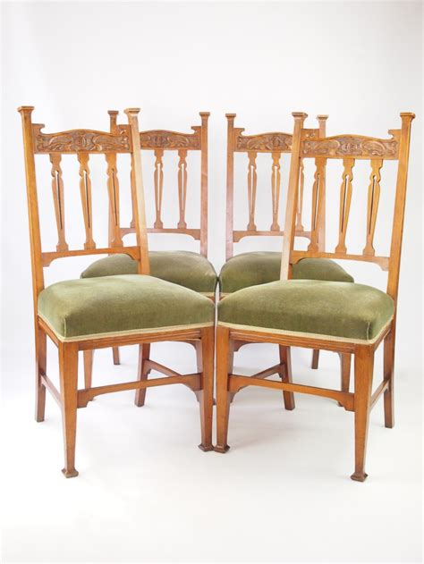 Antique Dining Chairs Uk Antique Set 4 Golden Oak Dining Chairs 285389 Sellingantiques Co Uk