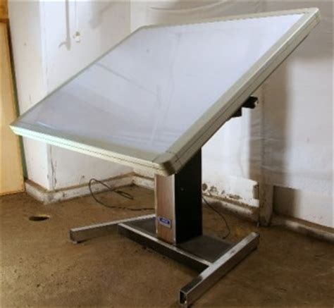 Mayline Drafting Tables Mayline Futur Matic Lighted Light Drafting Table Adjustable Architect 61x48 Ebay