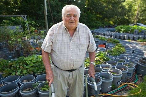 year  man maintains  garden   fruit