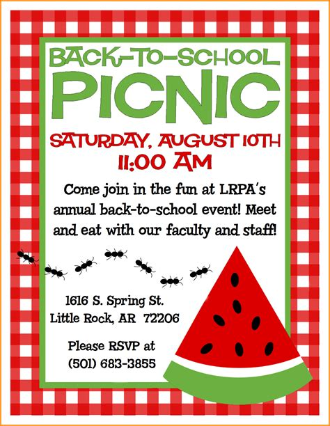 templates for picnic flyers image gallery picnic flyer
