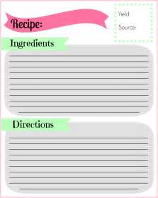 recipe template printable diy recipe binder pocketful of motherhood