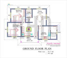 House Floor Planner Nano Home Plan And Elevation In 991 Square Feet Kerala