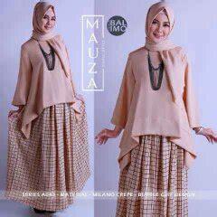 Mauza Set Baju Atasan Pashmina Busana Muslim Dress Maxi baju muslim modern terbaru 2016 model atasan mauza balimo