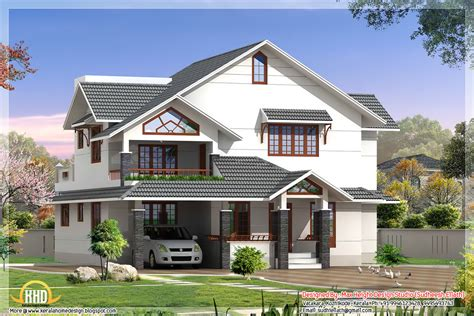 Home Plans With Photos by Indian Style 3d House Elevations Kerala Home Design And