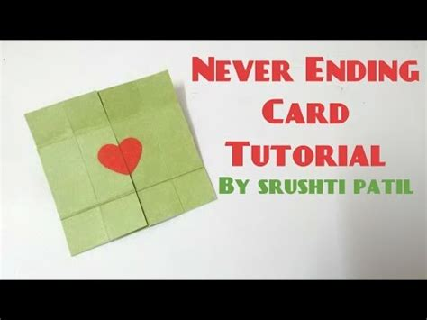 tutorial carding mailer vote no on how to make an endless card