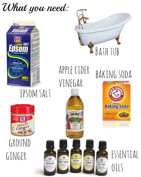 Detox Bath Recipes For Allergies by Apple Cider Vinegar And Epsom Salt Detox Bath Best Autos