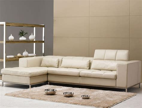 beige leather l shaped sectional sofa set for small living the artistic leather sectional sofa design s3net