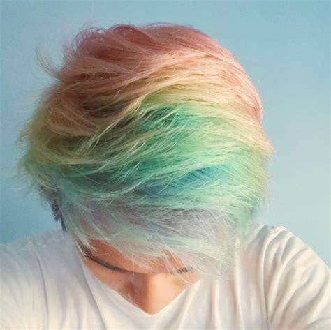 short colorful hairstyles pastel rainbow hair colorful hair pinterest un