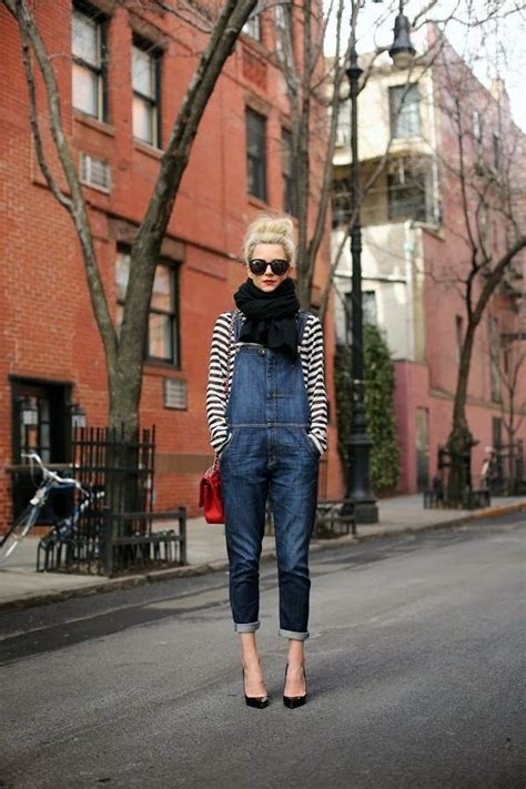 Overall Stripy how to wear overalls outstandingly glam radar