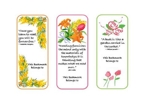 printable bookmark maker bookmark template 19 handmade cards pinterest