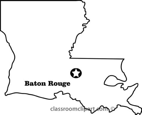 louisiana map black and white louisiana outline clipart