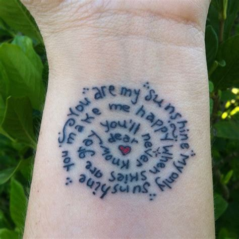 you are my sunshine tattoo ideas you are my words to live by