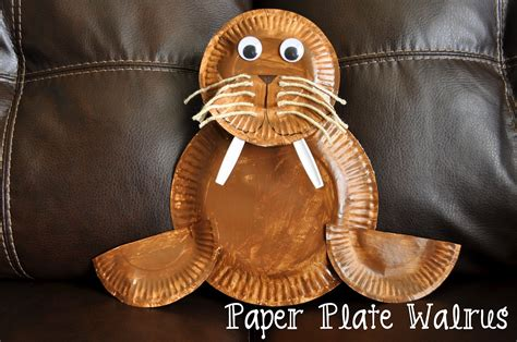 Walrus Paper Plate Craft - paper plate walrus i crafty things