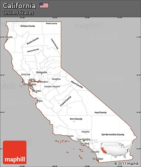 california map simple free gray simple map of california cropped outside