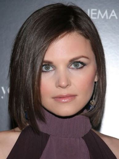 Short hairstyles for round faces ginnifer goodwin