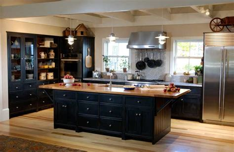 Pics Of Kitchens With Black Cabinets Stainless Steel Black Kitchen Cabinets Modern Kitchens