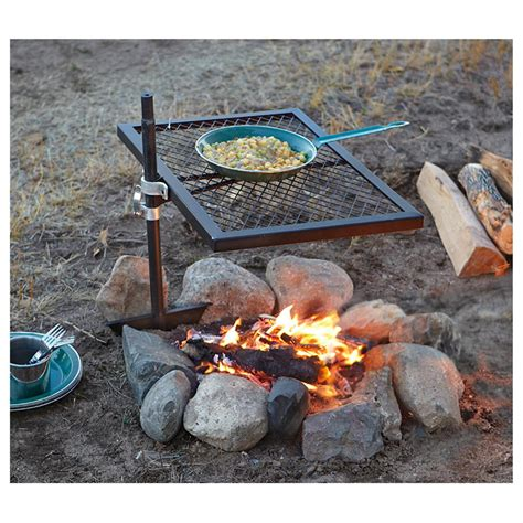 Firepit And Grill Guide Gear 174 Swivel Pit Grill 234364 Stoves At Sportsman S Guide